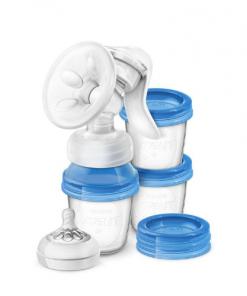 extractor de leche materna manual con recipientes VIA de Philips AVENT