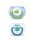 chupetes elefantes 6-18 azul philips avent