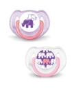 chupetes elefantes 6-18 rosado philips avent