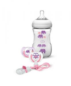 set regalo elefantes rosado philips avent