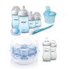 Biberones y esterilizador a vapor de microondas Avent para recién nacidos