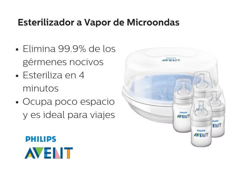 Esterilizador a vapor microondas