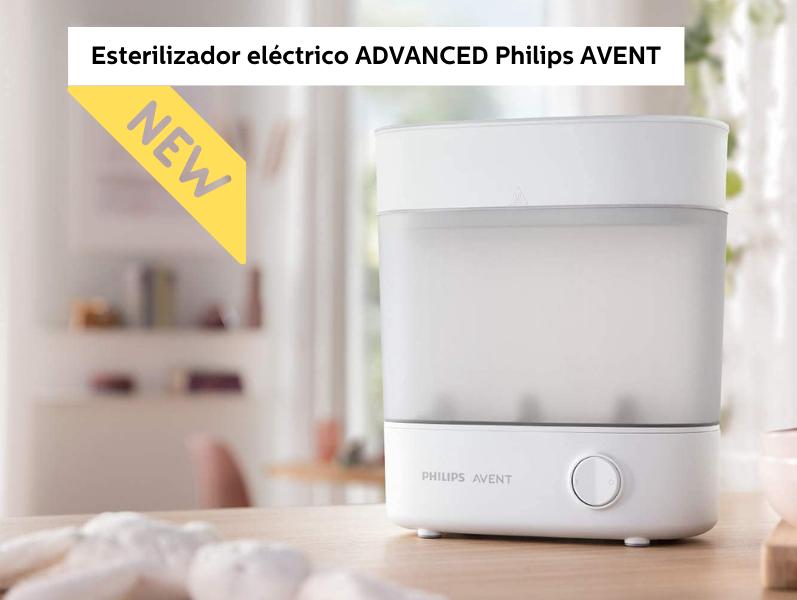 esterilizador a vapor eléctrico advanced philips avent